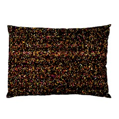 Colorful And Glowing Pixelated Pattern Pillow Case (two Sides) by Amaryn4rt