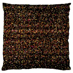 Colorful And Glowing Pixelated Pattern Large Cushion Case (two Sides) by Amaryn4rt