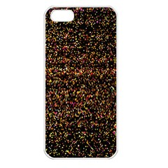 Colorful And Glowing Pixelated Pattern Apple Iphone 5 Seamless Case (white) by Amaryn4rt
