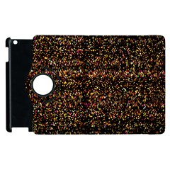 Colorful And Glowing Pixelated Pattern Apple Ipad 2 Flip 360 Case by Amaryn4rt