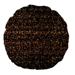 Colorful And Glowing Pixelated Pattern Large 18  Premium Round Cushions by Amaryn4rt