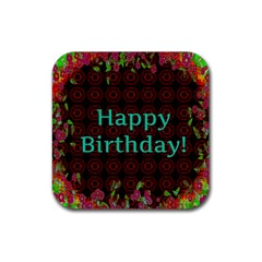 Happy Birthday To You! Rubber Coaster (square)  by Amaryn4rt