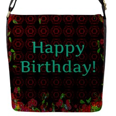 Happy Birthday To You! Flap Messenger Bag (s) by Amaryn4rt