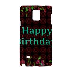 Happy Birthday To You! Samsung Galaxy Note 4 Hardshell Case by Amaryn4rt