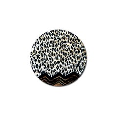 Tiger Background Fabric Animal Motifs Golf Ball Marker (10 Pack) by Amaryn4rt