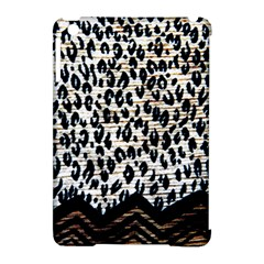 Tiger Background Fabric Animal Motifs Apple Ipad Mini Hardshell Case (compatible With Smart Cover) by Amaryn4rt