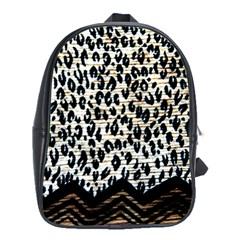 Tiger Background Fabric Animal Motifs School Bags (xl)  by Amaryn4rt