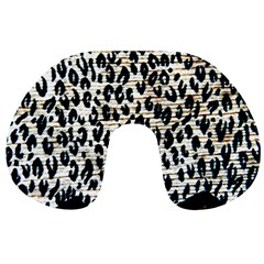 Tiger Background Fabric Animal Motifs Travel Neck Pillows by Amaryn4rt