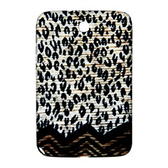 Tiger Background Fabric Animal Motifs Samsung Galaxy Note 8 0 N5100 Hardshell Case  by Amaryn4rt