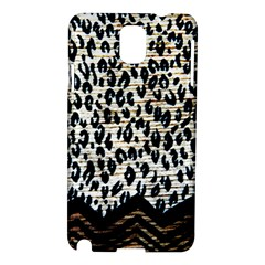 Tiger Background Fabric Animal Motifs Samsung Galaxy Note 3 N9005 Hardshell Case