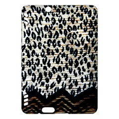Tiger Background Fabric Animal Motifs Kindle Fire Hdx Hardshell Case by Amaryn4rt