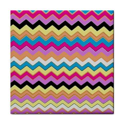Chevrons Pattern Art Background Tile Coasters by Amaryn4rt