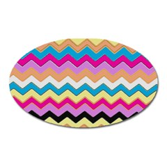 Chevrons Pattern Art Background Oval Magnet by Amaryn4rt