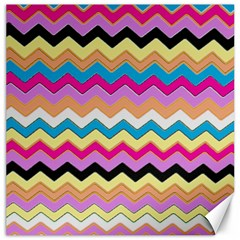 Chevrons Pattern Art Background Canvas 16  X 16   by Amaryn4rt