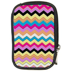 Chevrons Pattern Art Background Compact Camera Cases by Amaryn4rt