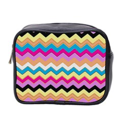 Chevrons Pattern Art Background Mini Toiletries Bag 2 Side by Amaryn4rt