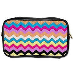 Chevrons Pattern Art Background Toiletries Bags 2 Side by Amaryn4rt