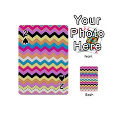 Chevrons Pattern Art Background Playing Cards 54 (mini)  by Amaryn4rt