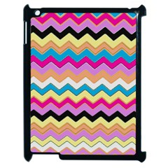 Chevrons Pattern Art Background Apple Ipad 2 Case (black) by Amaryn4rt