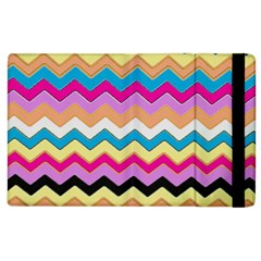 Chevrons Pattern Art Background Apple Ipad 3/4 Flip Case by Amaryn4rt