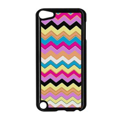 Chevrons Pattern Art Background Apple Ipod Touch 5 Case (black) by Amaryn4rt