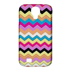 Chevrons Pattern Art Background Samsung Galaxy S4 Classic Hardshell Case (pc+silicone) by Amaryn4rt