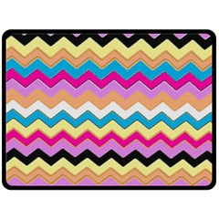 Chevrons Pattern Art Background Double Sided Fleece Blanket (large)  by Amaryn4rt
