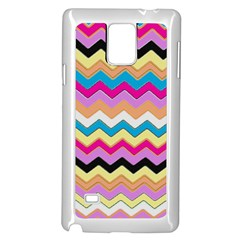 Chevrons Pattern Art Background Samsung Galaxy Note 4 Case (White)