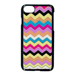 Chevrons Pattern Art Background Apple Iphone 7 Seamless Case (black) by Amaryn4rt