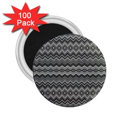 Greyscale Zig Zag 2 25  Magnets (100 Pack)  by Amaryn4rt