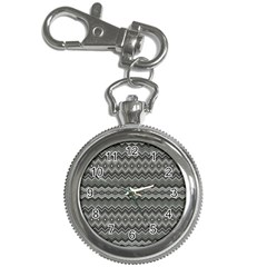 Greyscale Zig Zag Key Chain Watches by Amaryn4rt