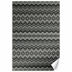 Greyscale Zig Zag Canvas 12  X 18   by Amaryn4rt