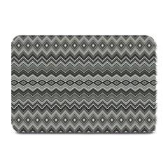 Greyscale Zig Zag Plate Mats by Amaryn4rt
