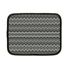 Greyscale Zig Zag Netbook Case (small)  by Amaryn4rt