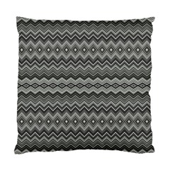 Greyscale Zig Zag Standard Cushion Case (two Sides) by Amaryn4rt
