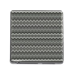 Greyscale Zig Zag Memory Card Reader (square) by Amaryn4rt