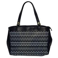 Greyscale Zig Zag Office Handbags by Amaryn4rt