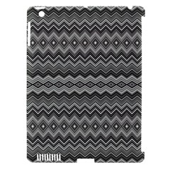 Greyscale Zig Zag Apple Ipad 3/4 Hardshell Case (compatible With Smart Cover) by Amaryn4rt