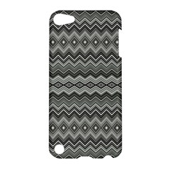 Greyscale Zig Zag Apple Ipod Touch 5 Hardshell Case by Amaryn4rt