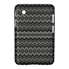 Greyscale Zig Zag Samsung Galaxy Tab 2 (7 ) P3100 Hardshell Case  by Amaryn4rt