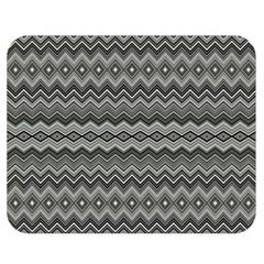 Greyscale Zig Zag Double Sided Flano Blanket (medium)  by Amaryn4rt
