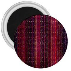 Colorful And Glowing Pixelated Pixel Pattern 3  Magnets by Amaryn4rt
