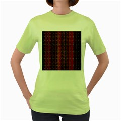 Colorful And Glowing Pixelated Pixel Pattern Women s Green T Shirt by Amaryn4rt