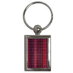 Colorful And Glowing Pixelated Pixel Pattern Key Chains (rectangle)  by Amaryn4rt