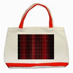 Colorful And Glowing Pixelated Pixel Pattern Classic Tote Bag (red) by Amaryn4rt