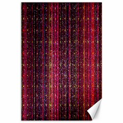 Colorful And Glowing Pixelated Pixel Pattern Canvas 12  X 18   by Amaryn4rt