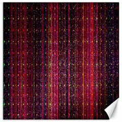 Colorful And Glowing Pixelated Pixel Pattern Canvas 20  X 20   by Amaryn4rt
