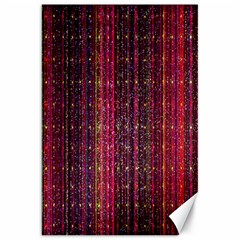 Colorful And Glowing Pixelated Pixel Pattern Canvas 20  X 30   by Amaryn4rt