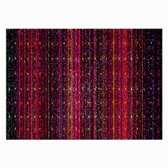 Colorful And Glowing Pixelated Pixel Pattern Large Glasses Cloth by Amaryn4rt