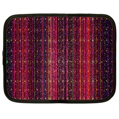 Colorful And Glowing Pixelated Pixel Pattern Netbook Case (large) by Amaryn4rt